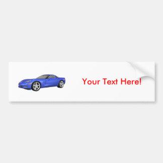 2008 Corvette: Sports Car: Blue Finish: Bumper Sticker