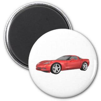 2008 Corvette: Sports Car: Red Finish: Magnet