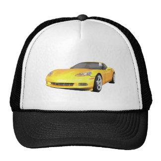2008 Corvette: Sports Car: Yellow Finish: Cap