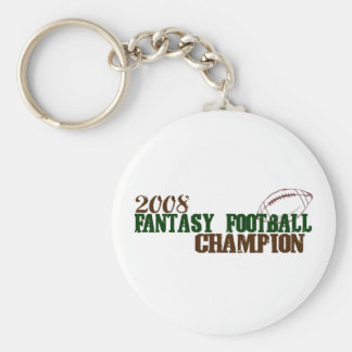2008 Fantasy Football Champ Basic Round Button Key Ring