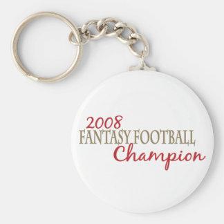 2008 Fantasy Football League Champion Basic Round Button Key Ring