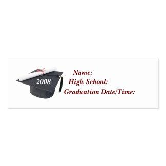 2008 Graduation Profile Card Business Card Templates