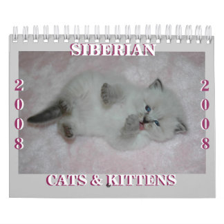 2008 Siberian Cats Calendar2 sm Calendars
