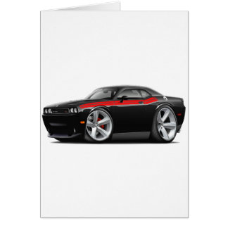 2009-11 Challenger RT Black-Red Car Greeting Card
