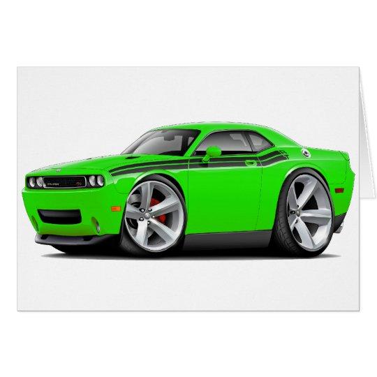 2009-11 Challenger RT Lime-Black Car Card