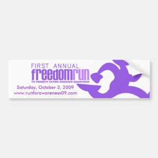 2009 Freedom Run Bumper Sticker