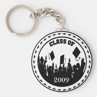 2009 Graduation Gifts Basic Round Button Key Ring