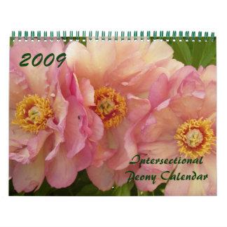 2009 Intersectional Peony Calendar - Customized