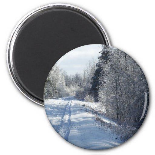 2009_Maine_Winter_26 6 Cm Round Magnet