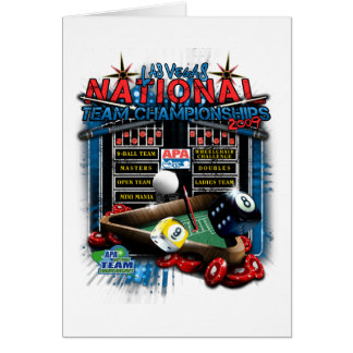 2009 National Team Championships Card