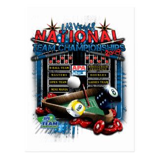 2009 National Team Championships Postcard