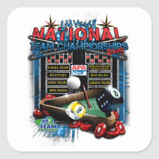 2009 National Team Championships Square Sticker