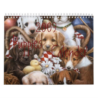 2009 Puppies Calender Wall Calendar
