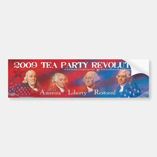 2009 Tea Party Revolution Bumper Sticker