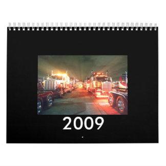 2009 truck calender wall calendar