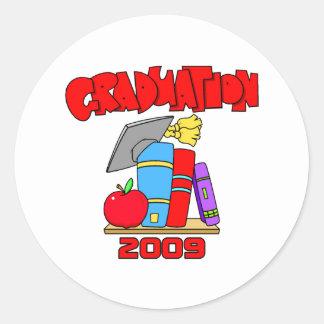 2009Graduation Round Sticker