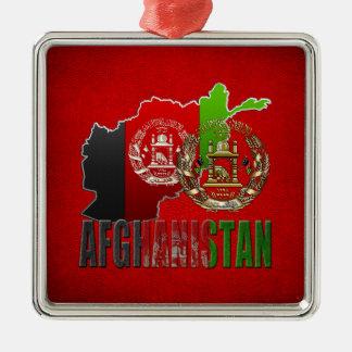 [200] Afghanistan: COA, Flag & Map Christmas Ornament