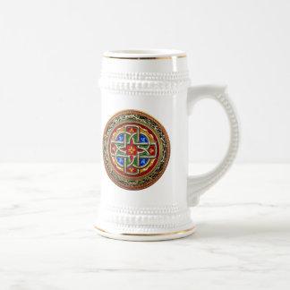 [200] Celtic Cross [Gold+Enamel] Beer Stein