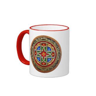 [200] Celtic Cross [Gold+Enamel] Coffee Mugs