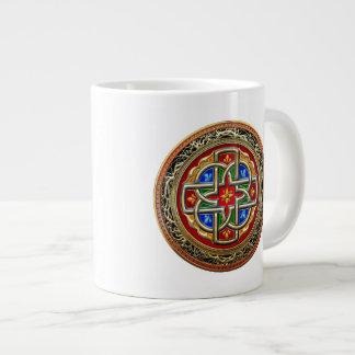 [200] Celtic Cross [Gold+Enamel] Jumbo Mug