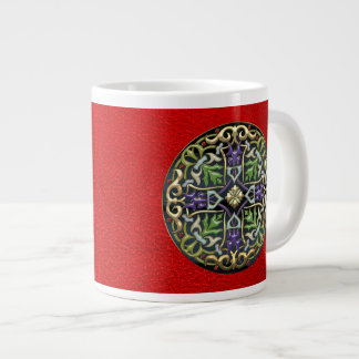 [200] Celtic Cross [Gold with Black Enamel] Giant Coffee Mug