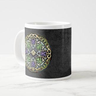 [200] Celtic Cross [Gold with Black Enamel] Large Coffee Mug