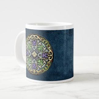 [200] Celtic Cross [Gold with Black Enamel] Jumbo Mug