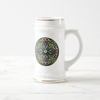 [200] Celtic Cross [Gold with Black Enamel] Coffee Mug