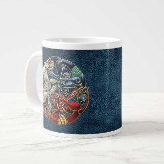[200] Celtic Sacred Art - Three Dogs Giant Coffee Mug
