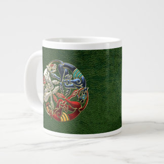 [200] Celtic Sacred Art - Three Dogs Large Coffee Mug