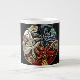 [200] Celtic Sacred Art - Three Dogs 20 Oz Large Ceramic Coffee Mug