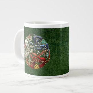 [200] Celtic Sacred Art - Three Dogs Jumbo Mug