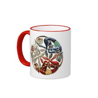[200] Celtic Sacred Art - Three Dogs Ringer Mug