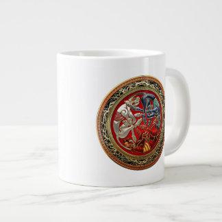 [200] Celtic Treasures - Three Dogs on Gold Large Coffee Mug
