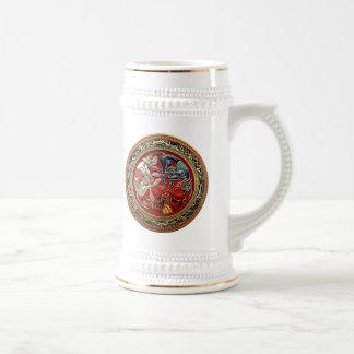 [200] Celtic Treasures - Three Dogs on Gold Mug