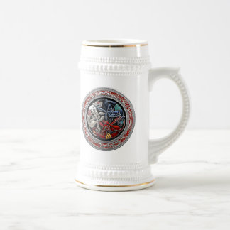 [200] Celtic Treasures - Three Dogs on Silver Beer Stein