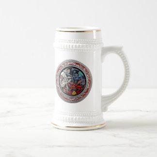 200 Celtic Treasures - Three Dogs on Silver Mug