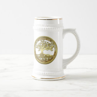 [200] Celtic Tree of Life [Gold] Beer Steins