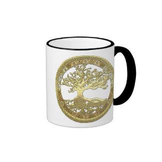 [200] Celtic Tree of Life [Gold] Coffee Mugs