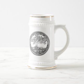 [200] Celtic Tree of Life [Silver] Beer Steins