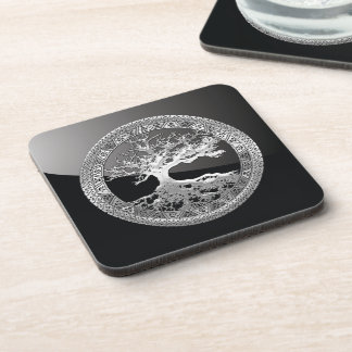 [200] Celtic Tree of Life [Silver] Coaster