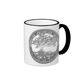 [200] Celtic Tree of Life [Silver] Ringer Mug