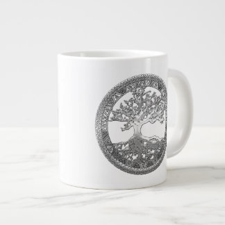 [200] Celtic Tree of Life [Silver] Extra Large Mugs