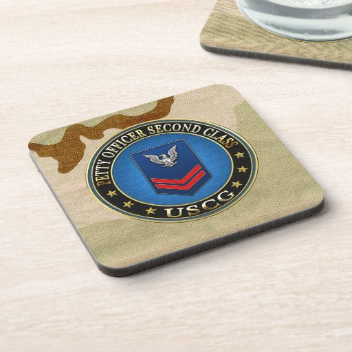 [200] CG: Petty Officer Second Class (PO2) Drink Coasters