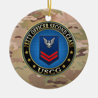 [200] CG: Petty Officer Second Class (PO2) Round Ceramic Decoration