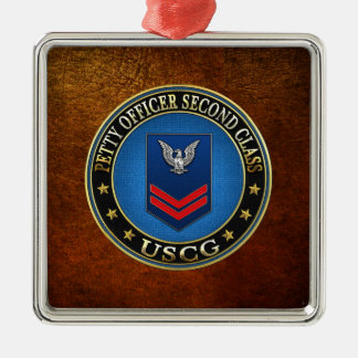 [200] CG: Petty Officer Second Class (PO2) Silver-Colored Square Decoration