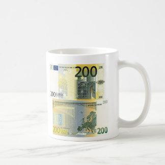 200 Euro Banknote Basic White Mug
