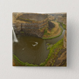 200 foot high Palouse Falls State Park in 15 Cm Square Badge
