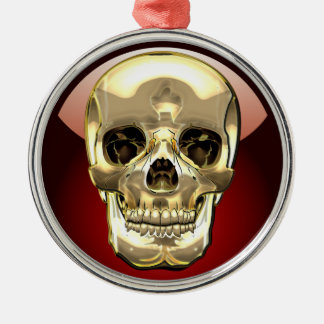 [200] Golden Human Skull Christmas Ornament