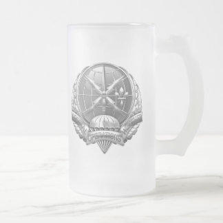 [200] SOWT Badge [Crest] Frosted Glass Beer Mug